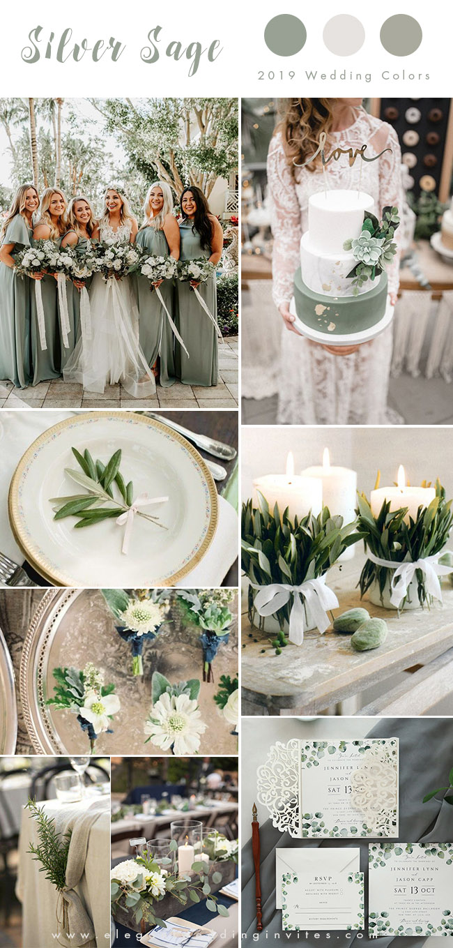 romantic rustic silver sage garden wedding color inspiration
