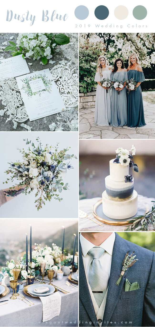shades of blue elegant spring and summer wedding colors