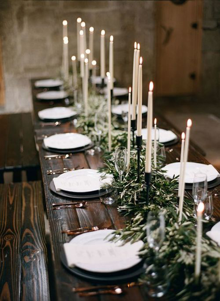 simple cool greenery winter wedding centerpieces decor ideas
