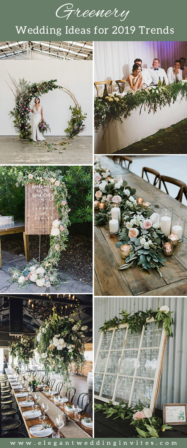 trendy greenery wedding ideas for 2019 brides