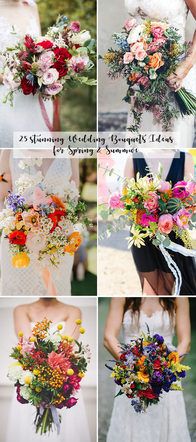25 stunning wedding bouquets ideas for spring and summer