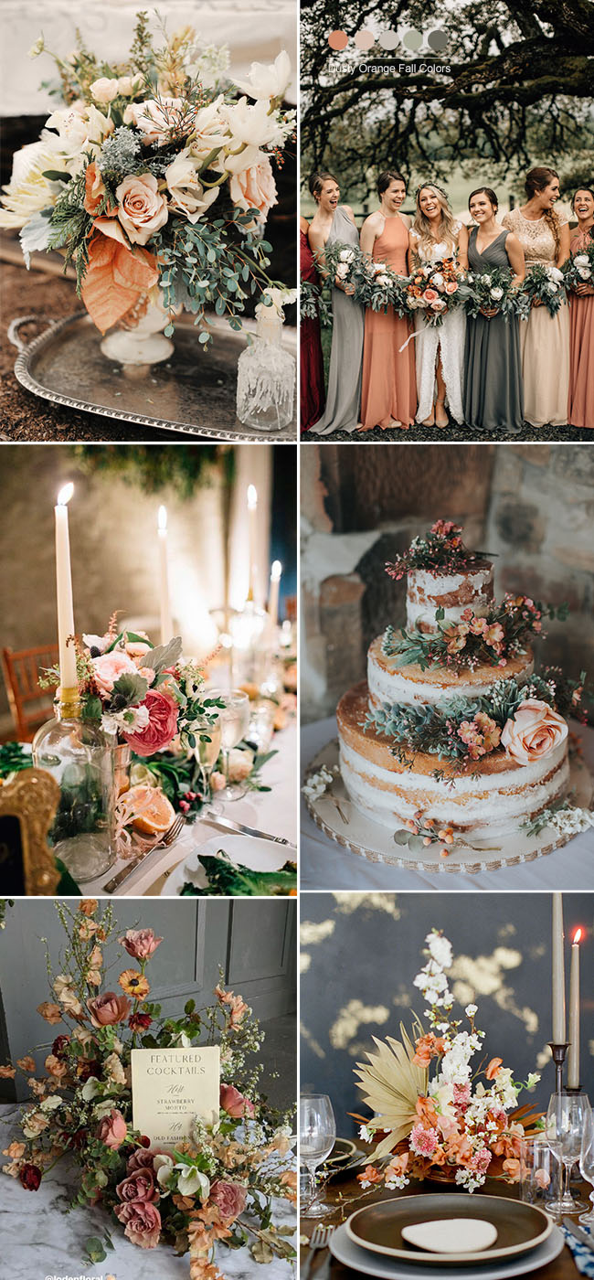 Wedding Trends 25 Stunning Dusty Orange Wedding Color Ideas For