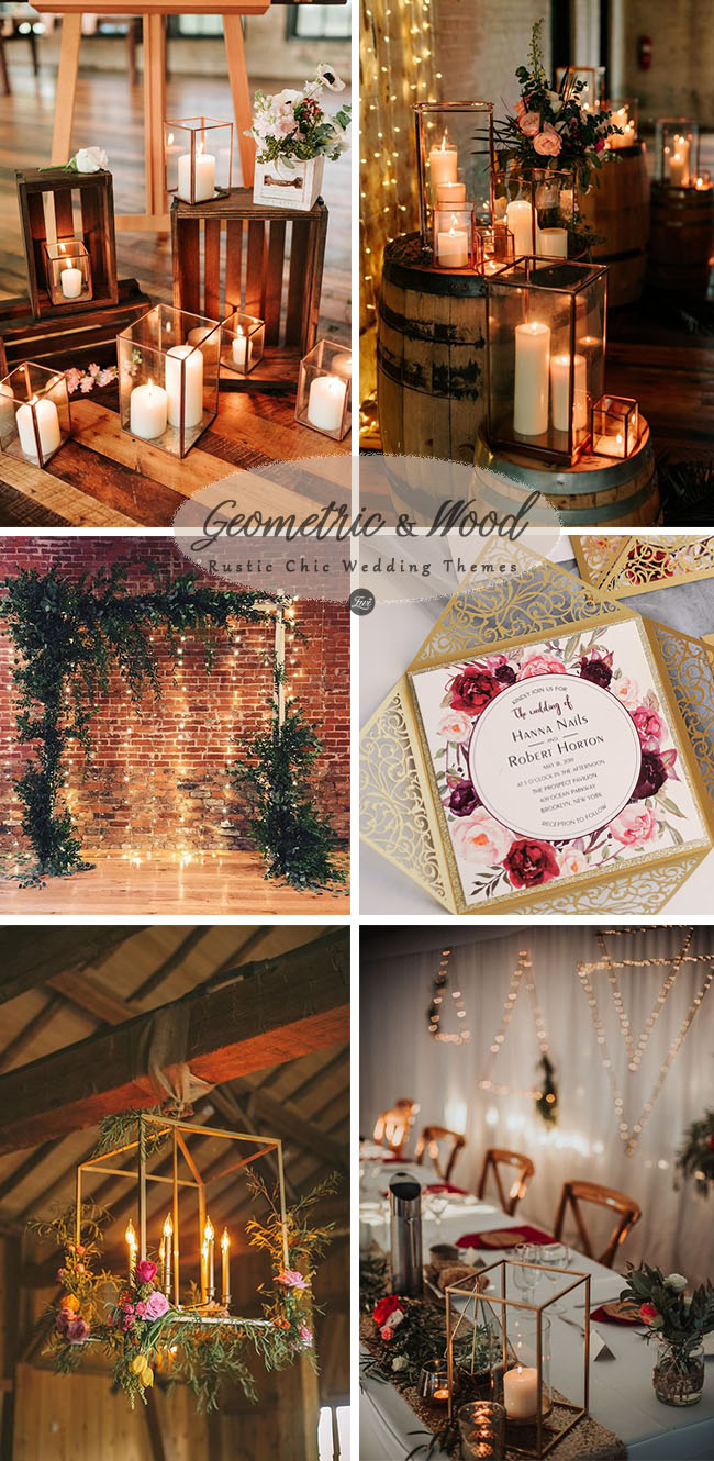 geometric industrial rustic chic barn wedding ideas