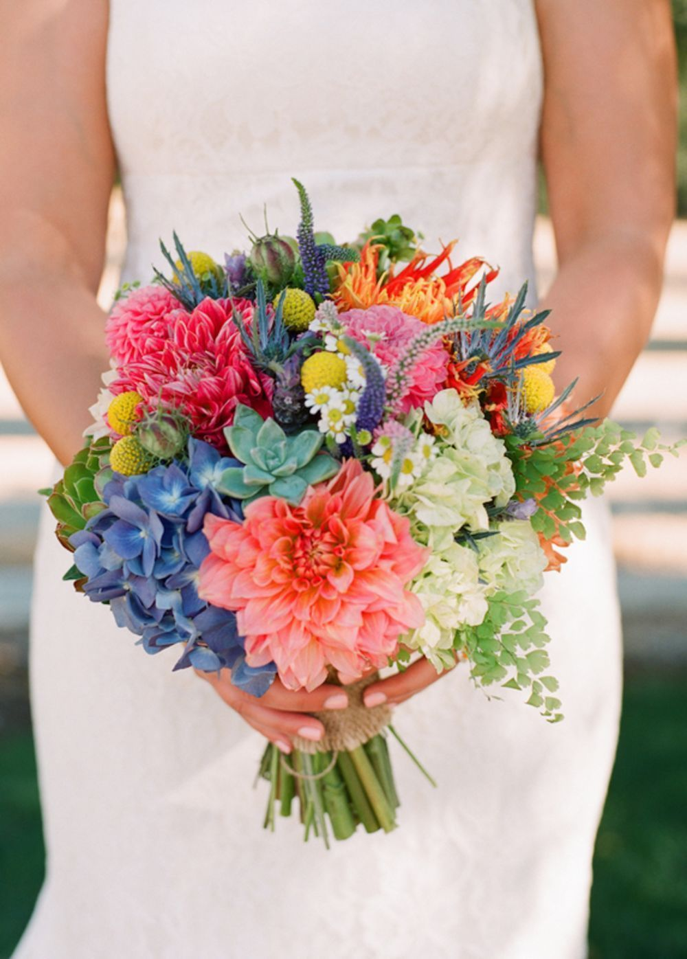 pink, purple and green spring and summer bridal bouquets ideas