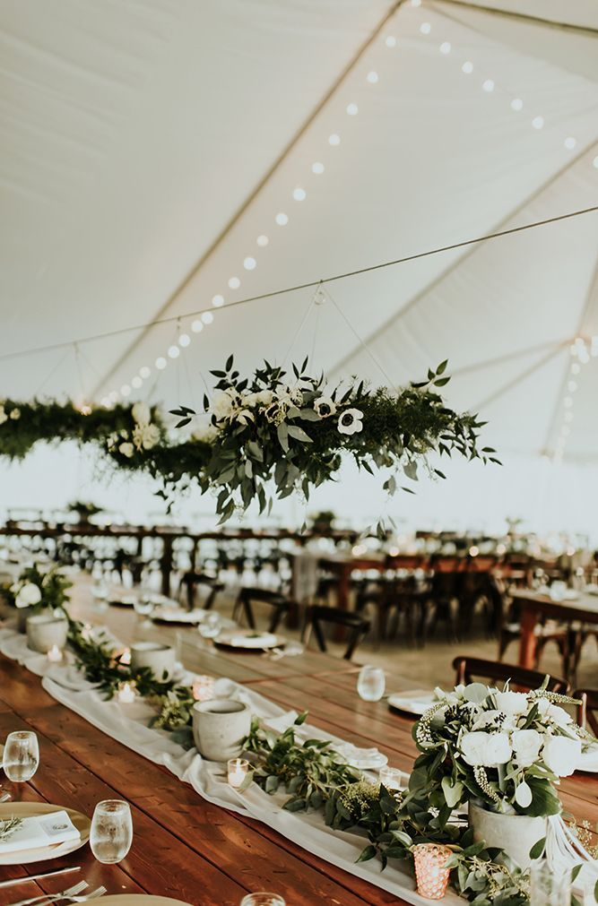 romantic elegant greenery wedding receptions ideas for 2019 trends