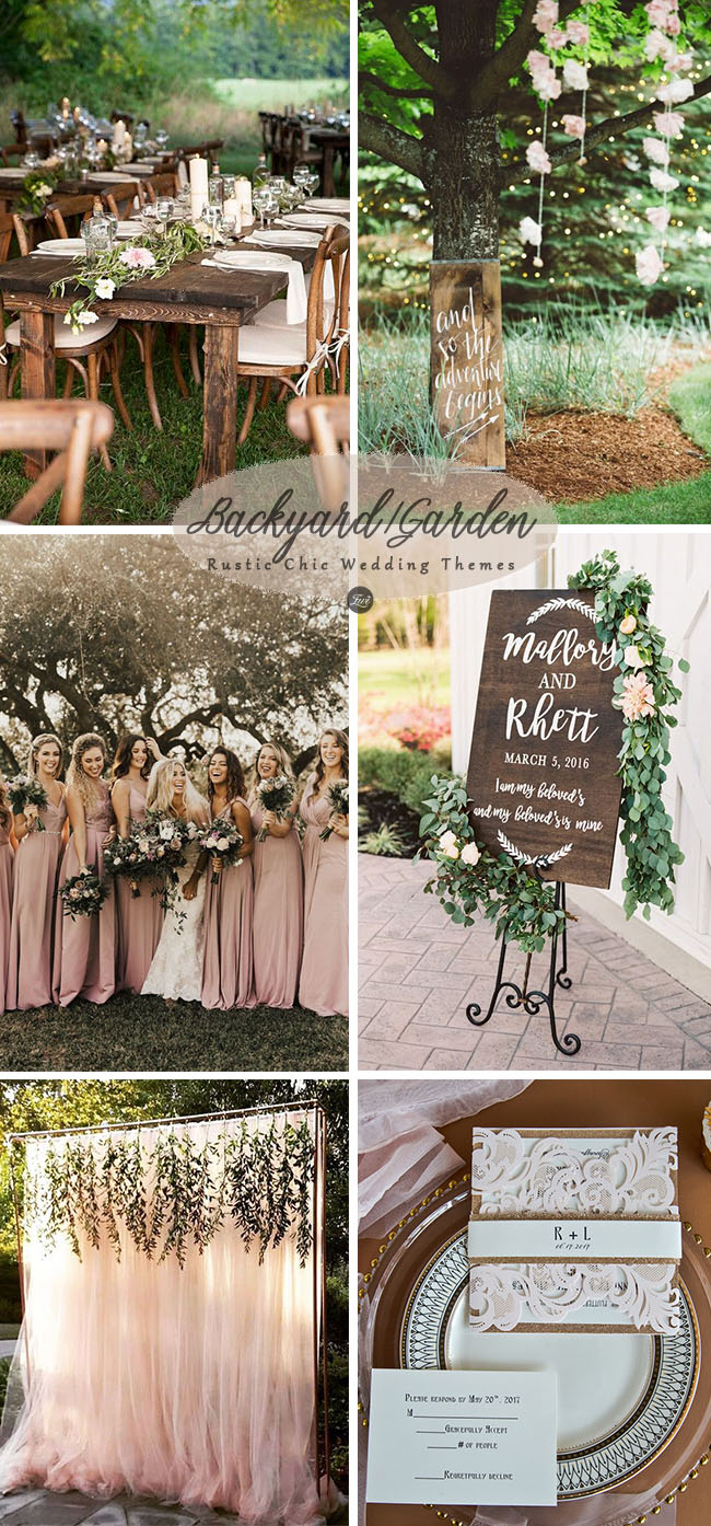 romantic rustic chic backyard and garden outdoor wedding party ideas