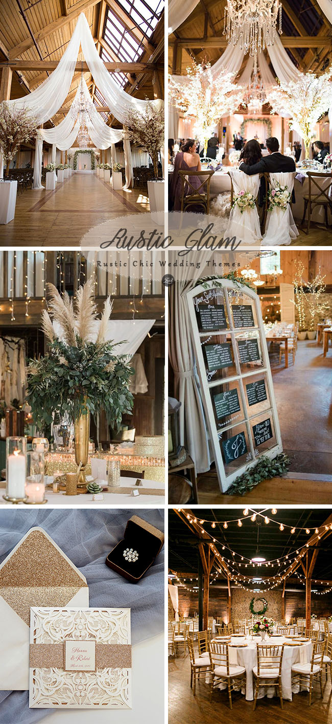rustic chic glam wedding ideas for 2018 t