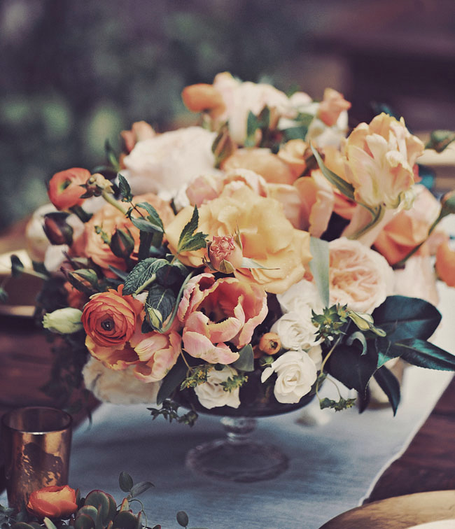 vintage style dusty orange wedding centerpieces ideas for 2019