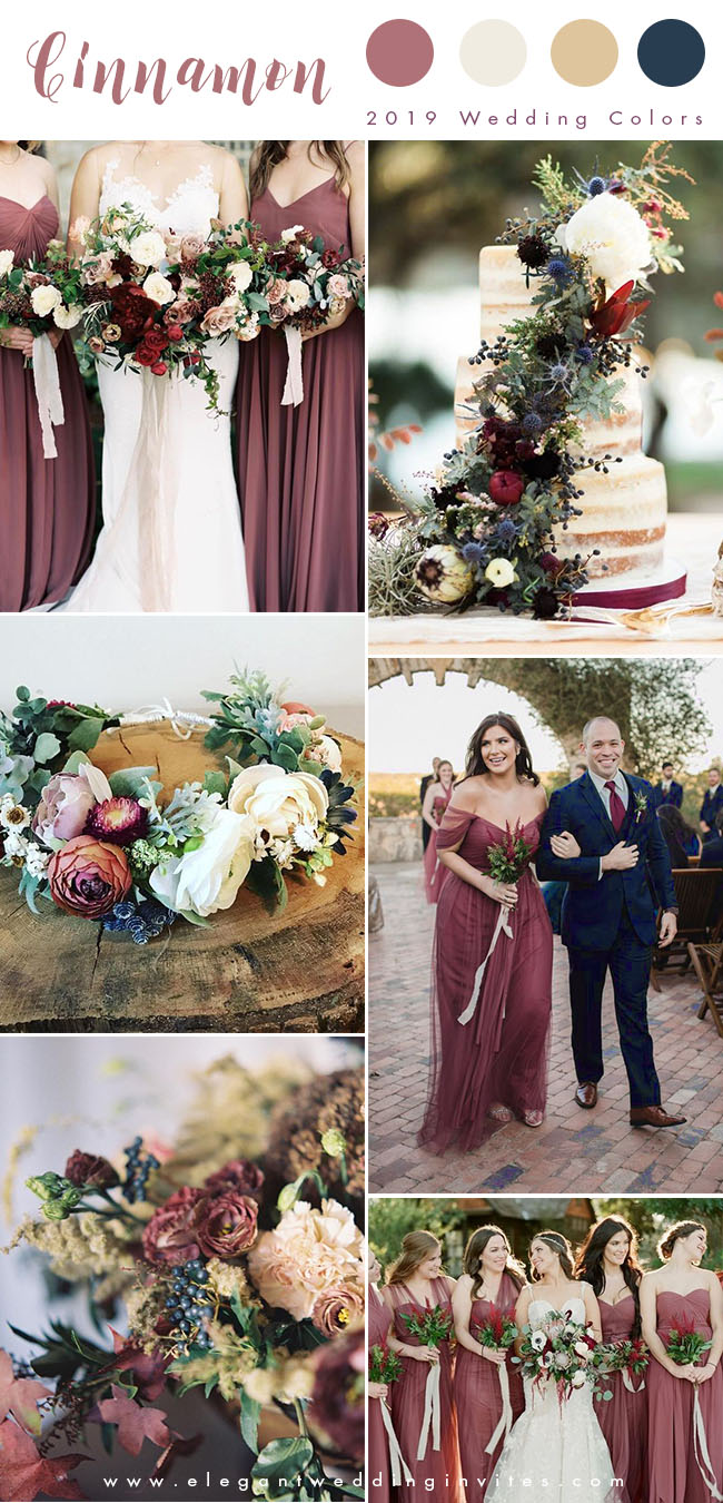 cinnamon rose and blue summer and fall wedding colors for 2019
