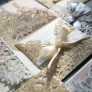 Trendy Glittery Laser Cut Wedding Invitations & DIY Tutorials