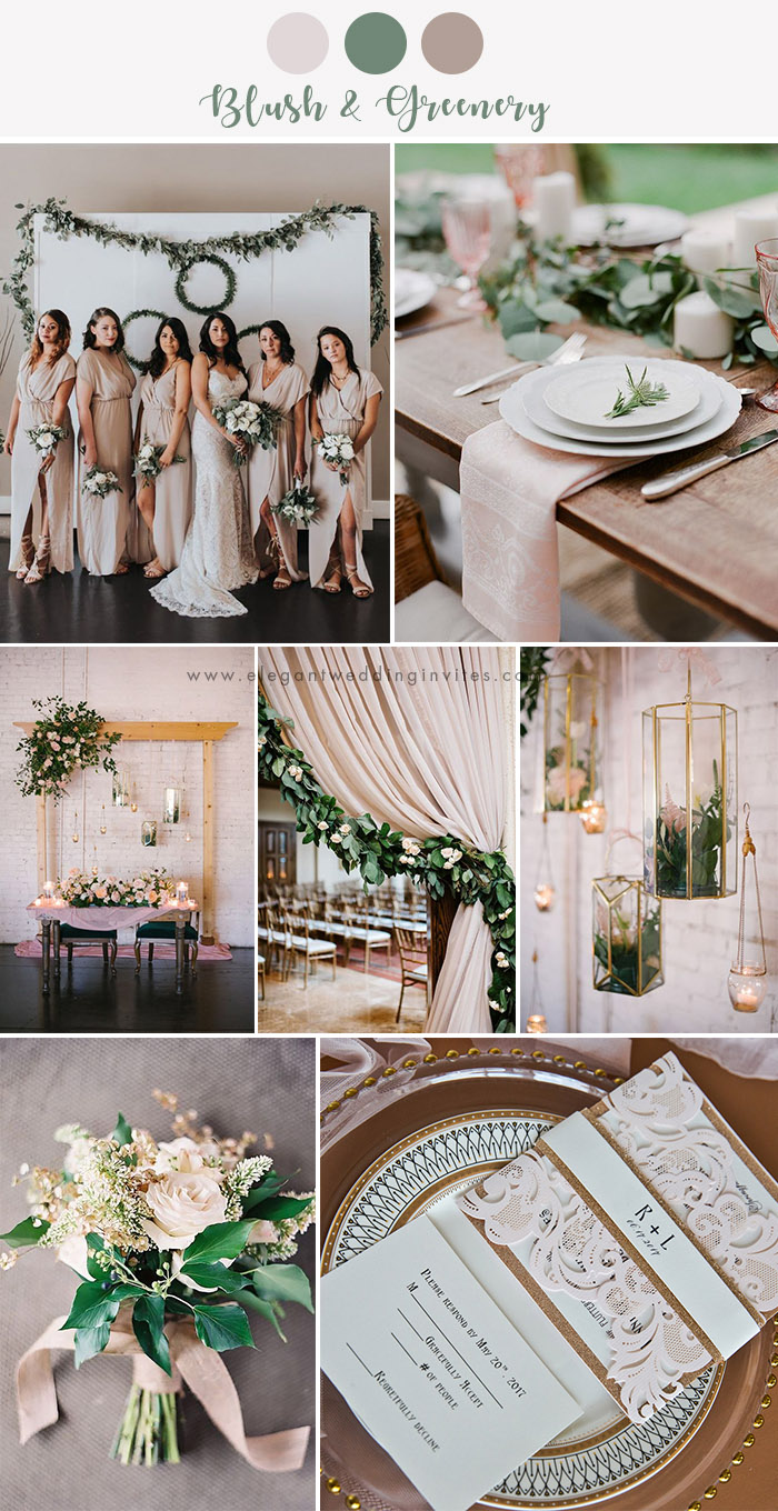modernized rustic chic wedding color inspiration ideas
