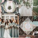 6 Beautiful Greenery Wedding Color Combos in Green Shades for 2019