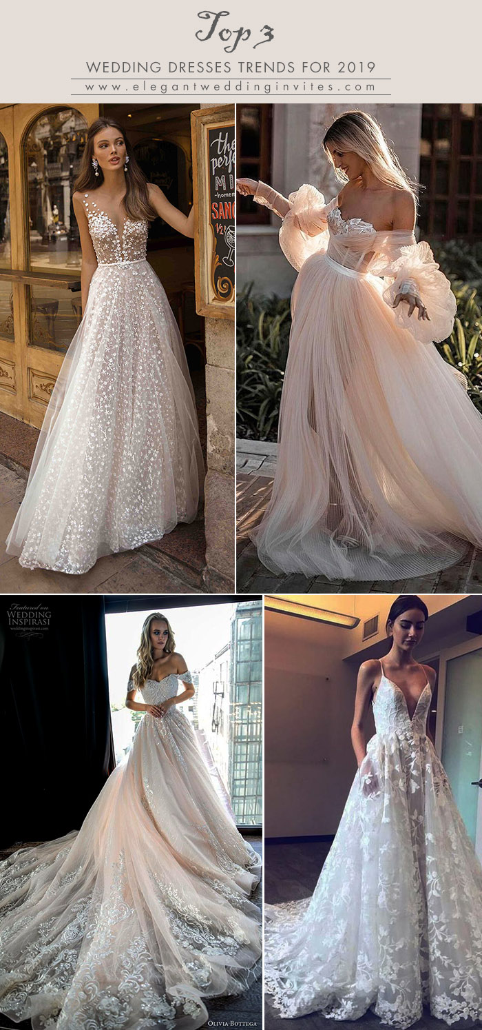 top 3 wedding dresses trends ideas for 2019