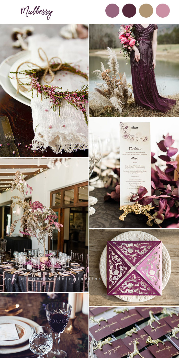 mulberry and plum moody fall wedding color inspiration