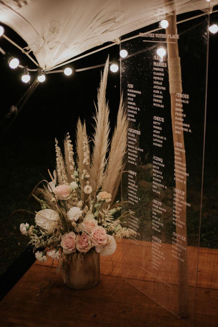 dreamy floral and acrylic signage wedding ideas for a modern rustic boho theme