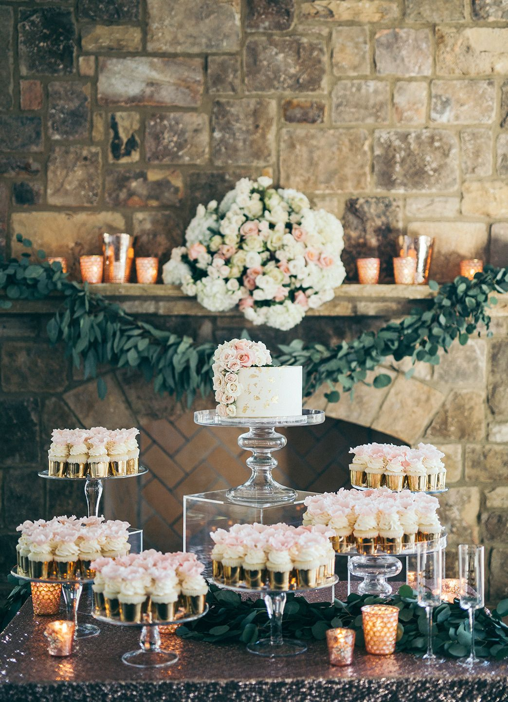 food and dessert table display ideas with acrylic