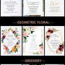 EWI June's New Arrivals-Cheap Floral and Calligraphy Wedding Invitations