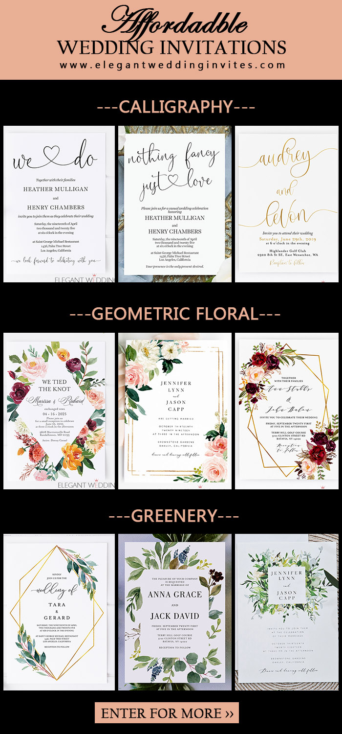 affordabe digital printing wedding invitation collections
