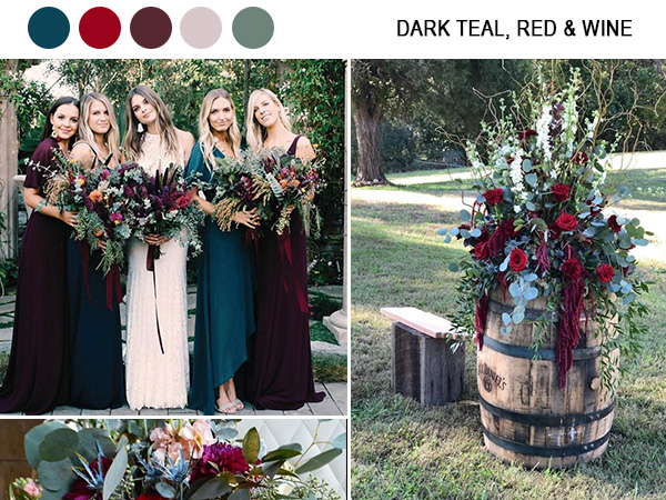 gorgeous fall wedding color