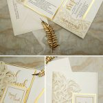 5 Pretty Wedding Colors Inspired by EWI New Tri-Folded Laser Cut Invites