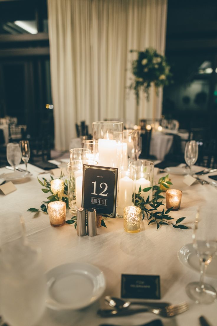 romantic winter wedding centerpieces ideas with greenery