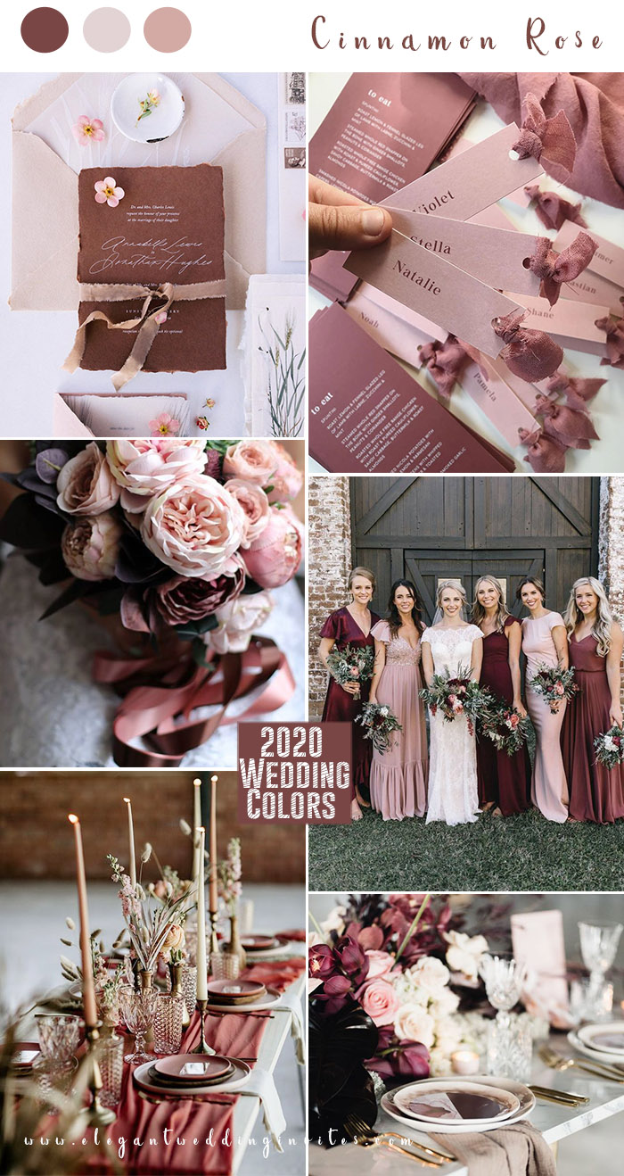 cinnamon rose and blush stylish wedding colors