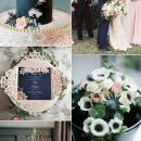 Classic Wedding Colors Ideas: Navy Blue and Blush