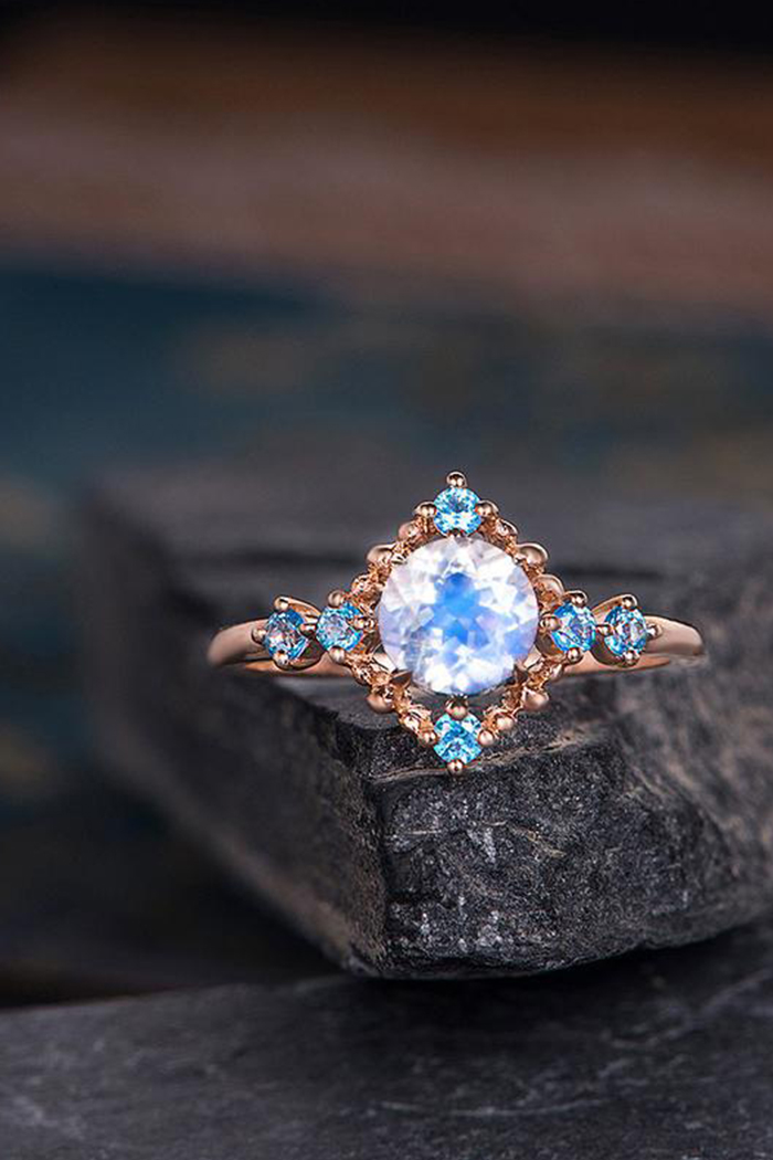 moonstone engagement ring