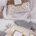 Top 5 Neutral Tone Laser Cut Wedding Invitations in Ivory & Pearl White