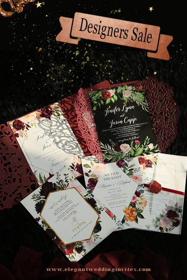 enjoy big sales on EWI designers' wedding invitation collections