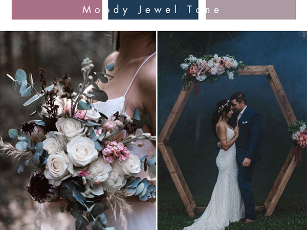 unique wedding color ideas