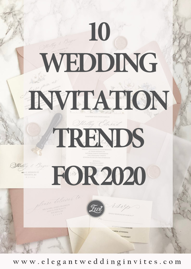 10 wedding invitation trends for 2020 from EWI