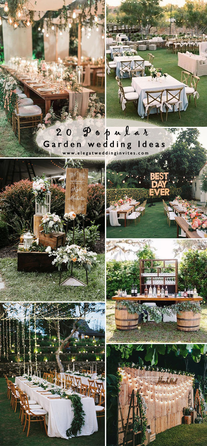 20 popular romantic outdoor wedding ideas for 2020