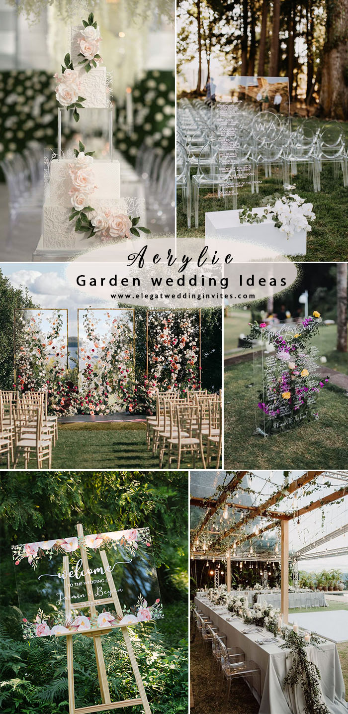 chic acrylic garden wedding Trends for 2020