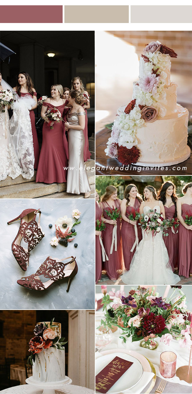 elegant cinnamon rose and ivory wedding colors to inpire in 2020