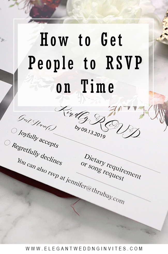 how to get people to wedding RSVP on time