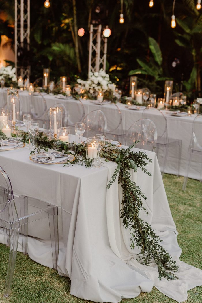 inspirational garden wedding table setting ideas with clear acrylic