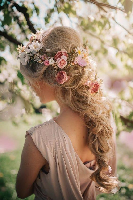 romantic floral pink white flower