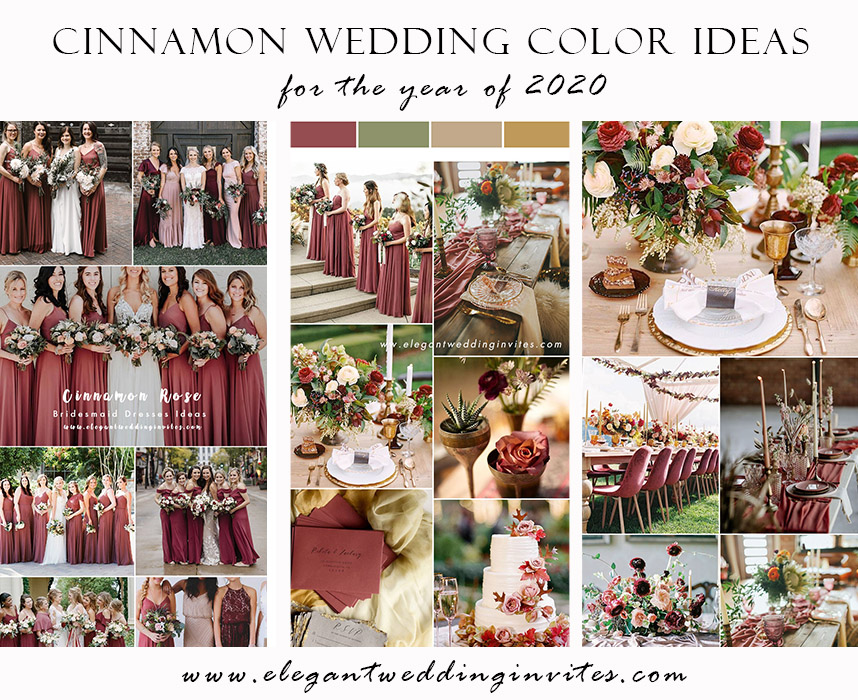 trending cinnamon rose wedding color ideas for 2020