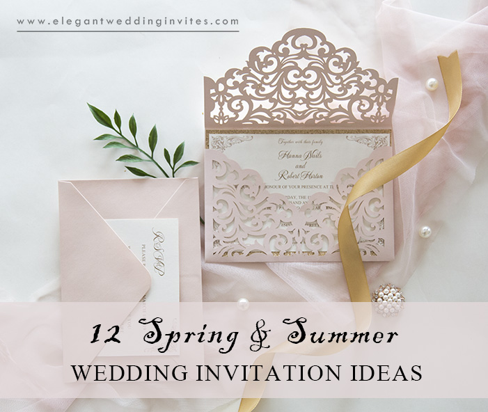 Spring Wedding Ideas: 12 Beautiful Spring Wedding Invitations You Will Feel