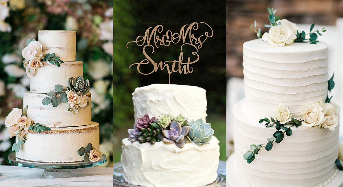 20 simple and elegant wedding cake ideas