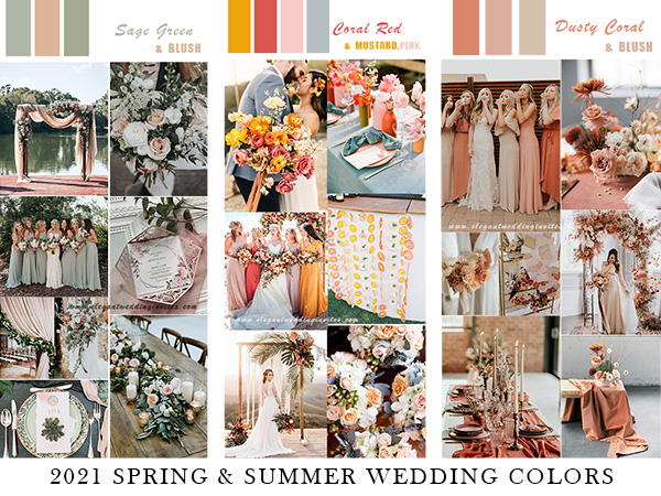 2021 spring and summer wedding colors