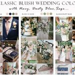 6 Classic Blush Wedding Color Combos that are All Time in Style