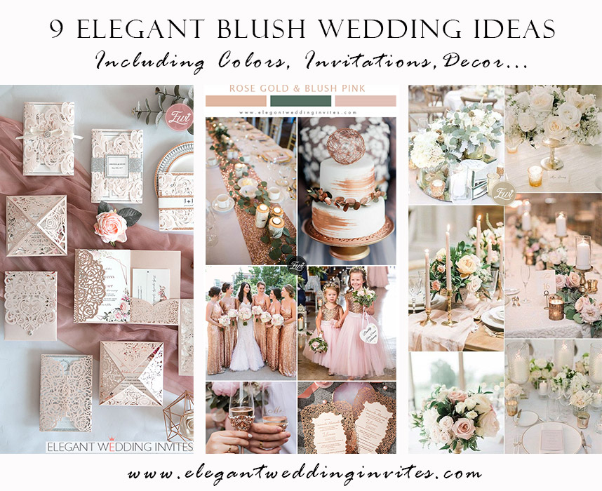 9 inspirational blush wedding ideas from colors to invitations