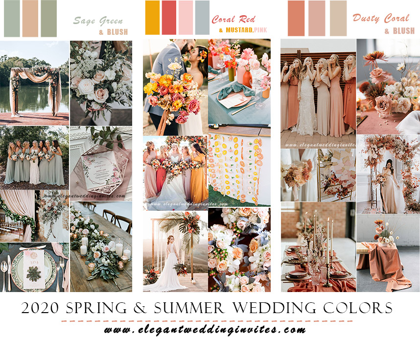 best wedding color ideas for 2020 spring and summer