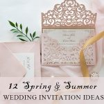 12 Beautiful Spring Wedding Invitations You Will Feel Gorgeous