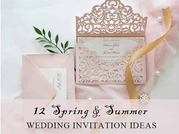 chic spring and summer wedding invitations