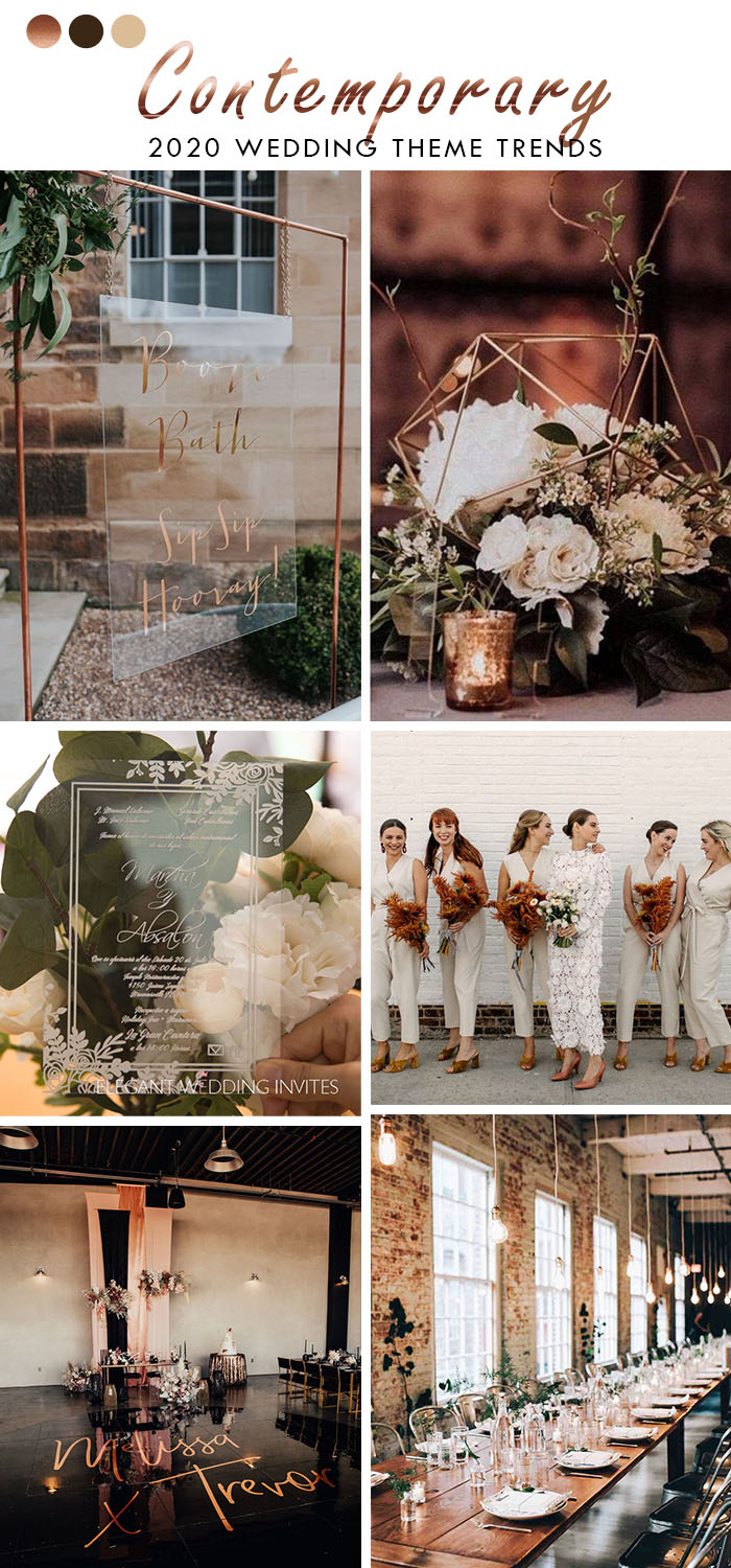 clear acrylic contemporary modern wedding theme for 2020