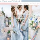 30+ Dreamy Dusty Blue and Blush Wedding Color Combo Ideas for 2020 Trends