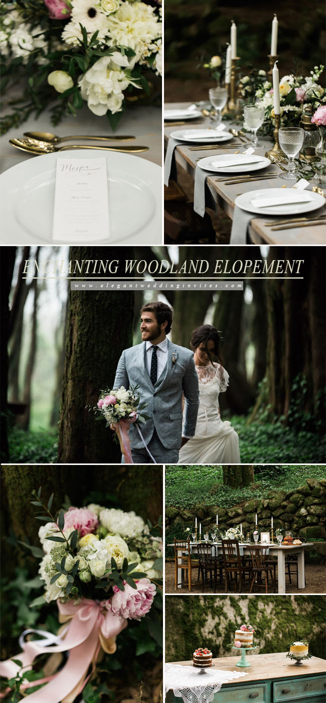 enchanting woodland elopement inspiration